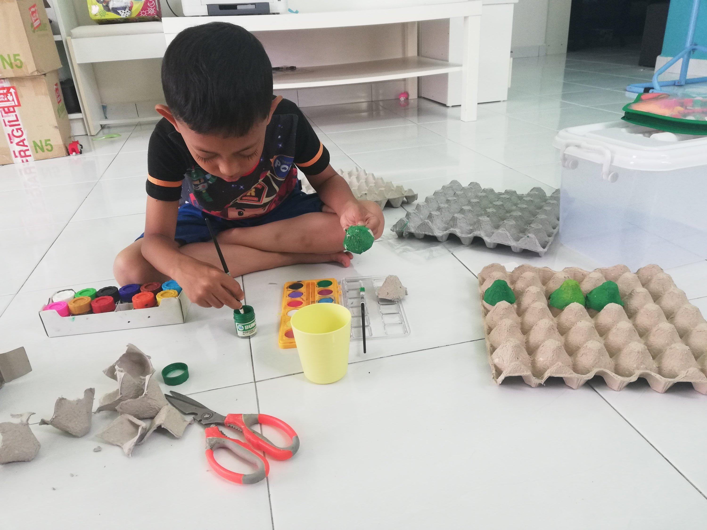 Art Craft Egg Carton Project Hafiz